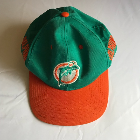 2a8b4323a72cd5 coupon for vintage nfl miami dolphins football snapback hat 2ff79 07ba7